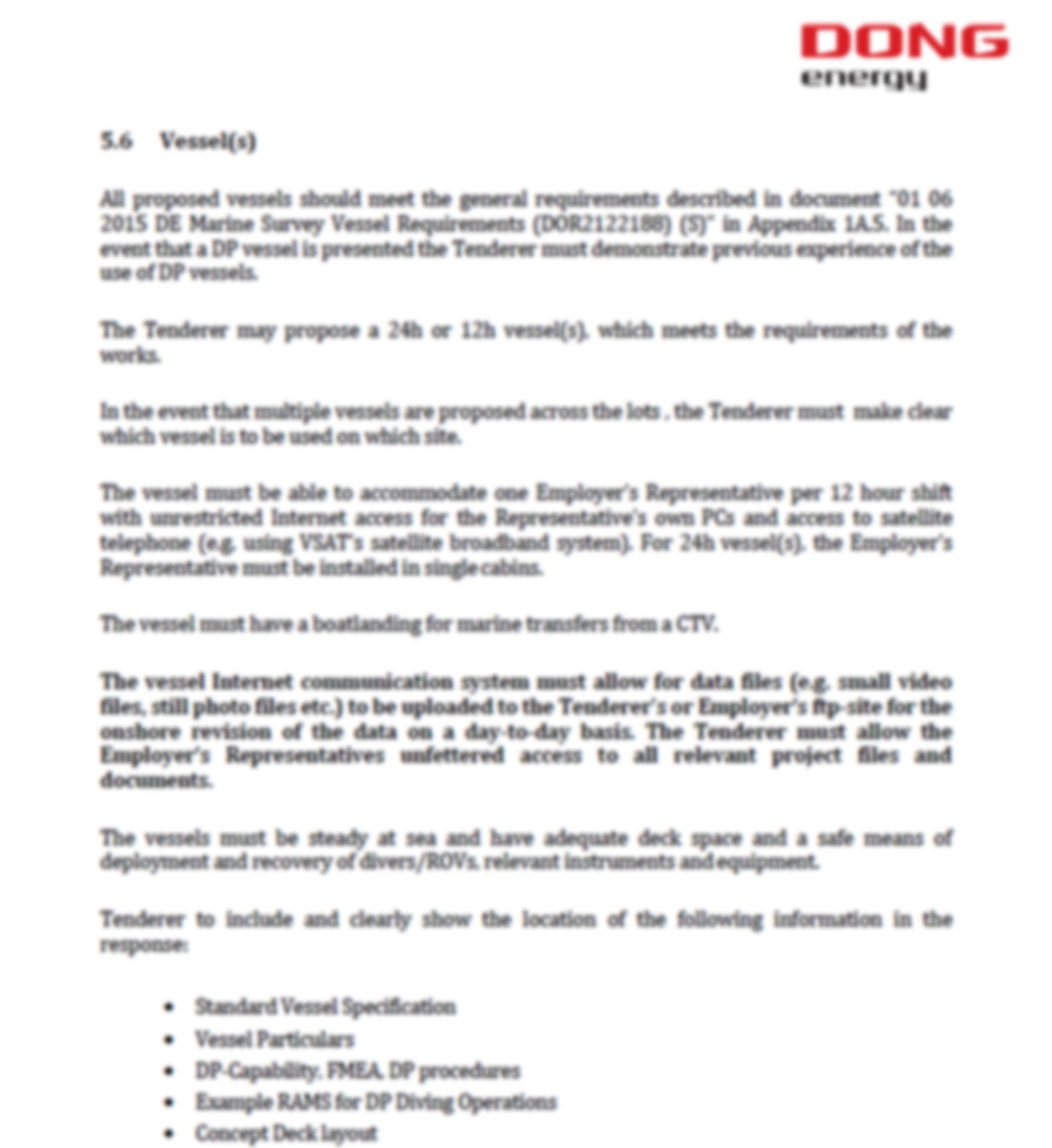Diving procurement & tender support image
