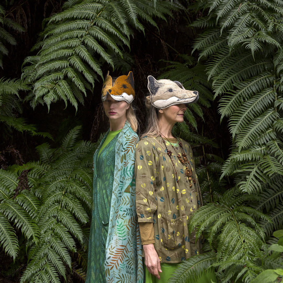 Animalesque for Gudrun Sjoden - Animalesque creates a collection of woodland headdresses for the Gudrun Sjoden. Featured in the Autumn/Winter 2018 collection shoot, exhibited in the Gudrun Sjoden exhibition in Minnesota and displayed in their retail shops worldwide.