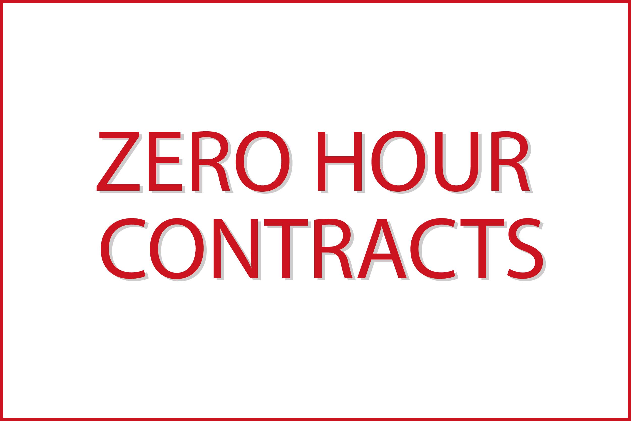 Zero Hour Contracts -