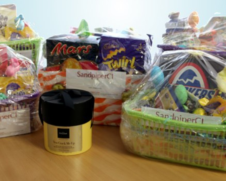 Easter hampers delivered to Local Schools and Charities -