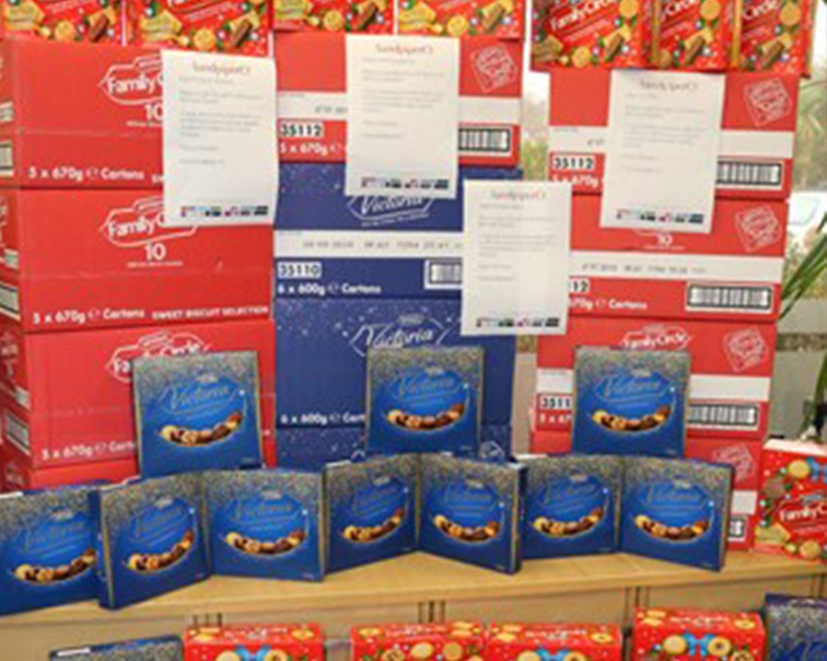 £400 worth of McVities donated to Local Charities -