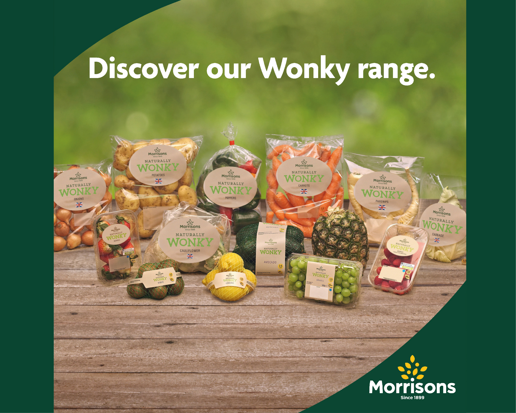Wonky range now in store at Morrisons Daily! -