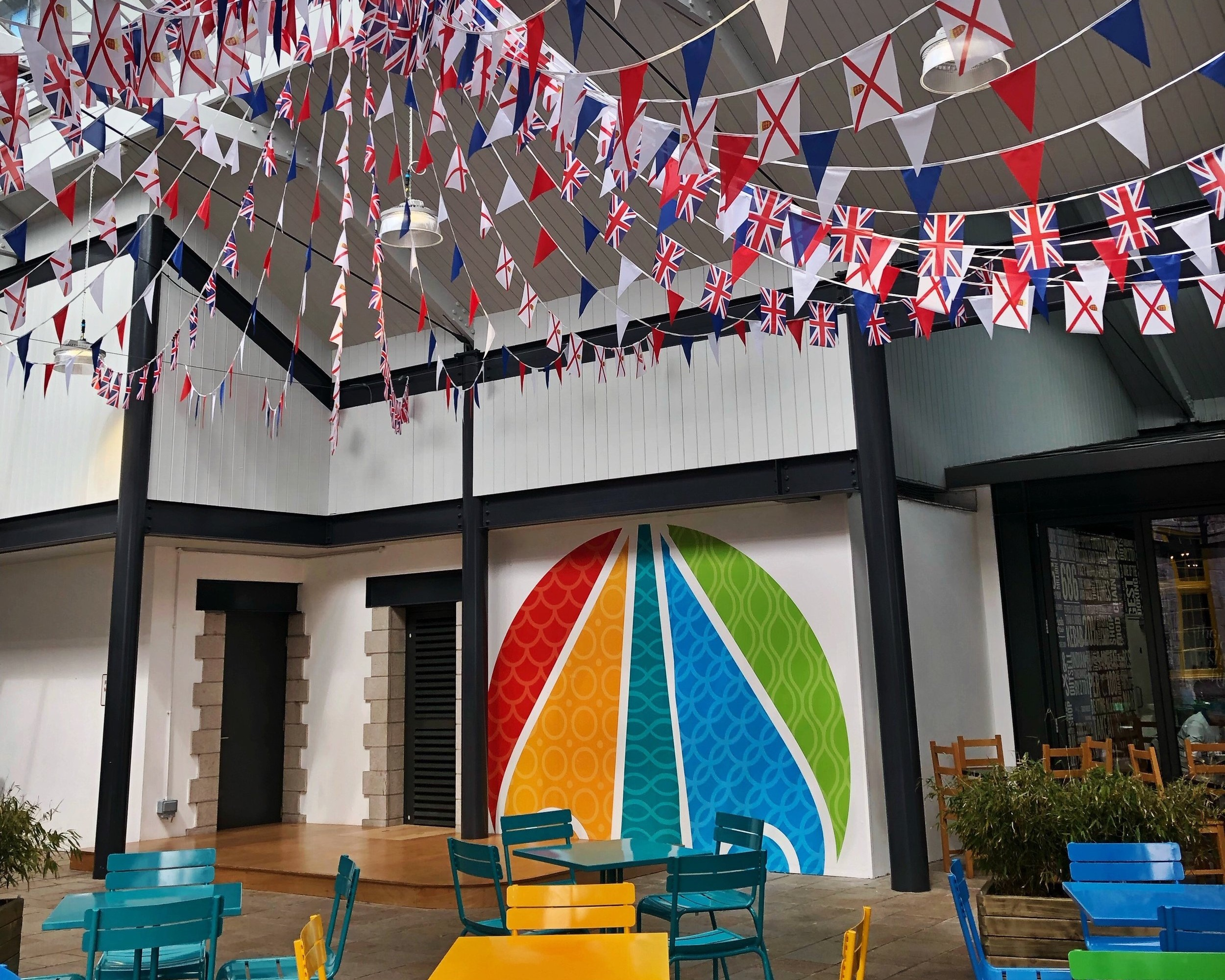Liberty Wharf Gets into the Liberation Day Spirit -