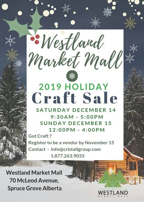 2019- Holiday Craft Sale Vendor Promo Flyer - Westland Market Mall.jpg
