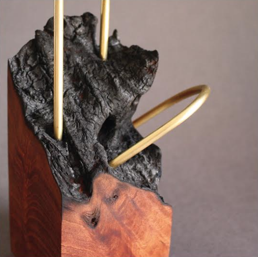 Kirralee Robinson - Robinson's work combines both natural and geometric elements and a mixture of machine and hand made materials. These works represent on a small scale the notion of what it could be like if we incorporated more of the natural environment into the world we make.