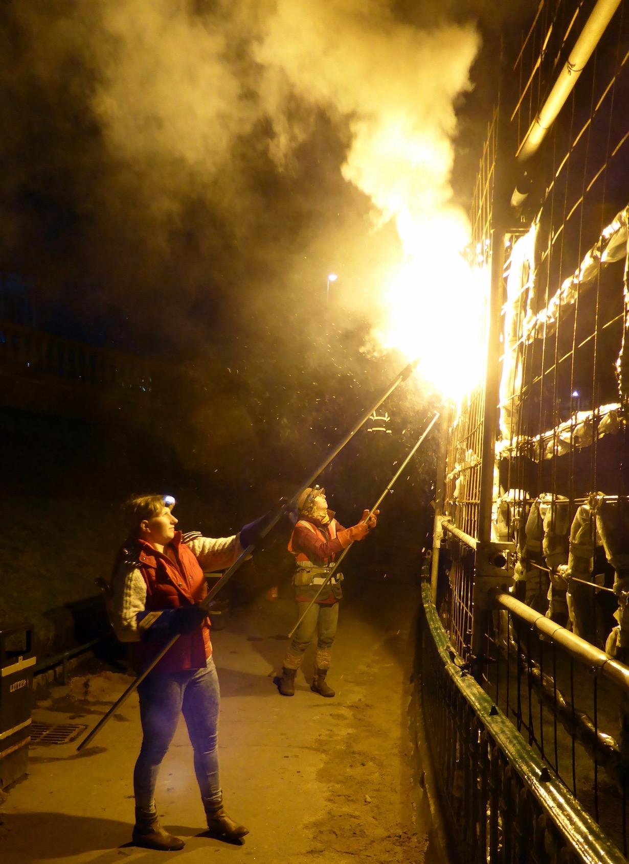 Knit One Burn One, Spectra Festival of Light -