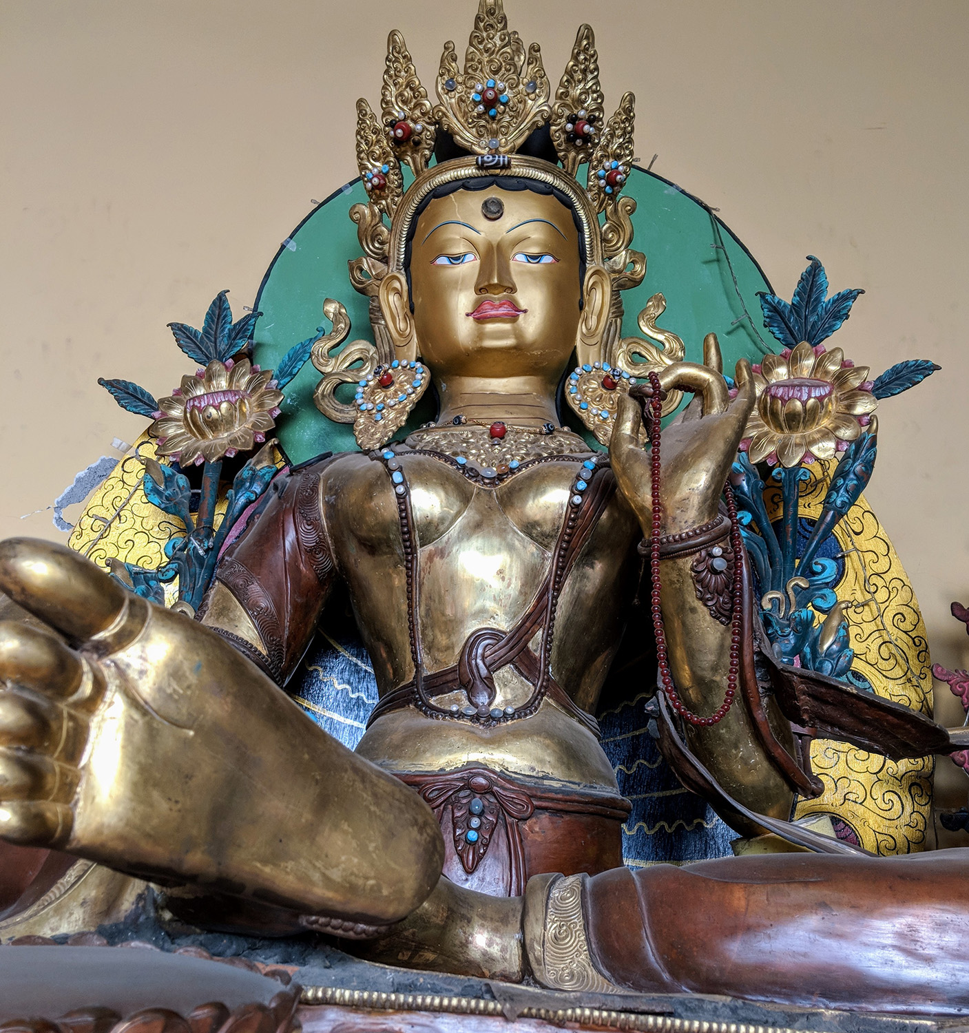 Green Tara of compassion, associated with confronting fear and overcoming obstacles.