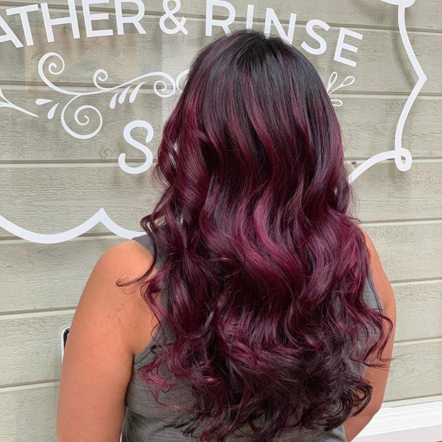 C O L O R E D 🍇 H A N D P A I N T #hairdo #hairart #bayareamua #makeuplife #beauty #haircut #haircolor #vivids #vividcolor #magentahair #haircolorist #hairideas #hairoftheday #doubleprocesscolor #fortheloveofhair #beautiful #popofcolor #brentwoodca #blendedhaircolor #handpainting #balayage