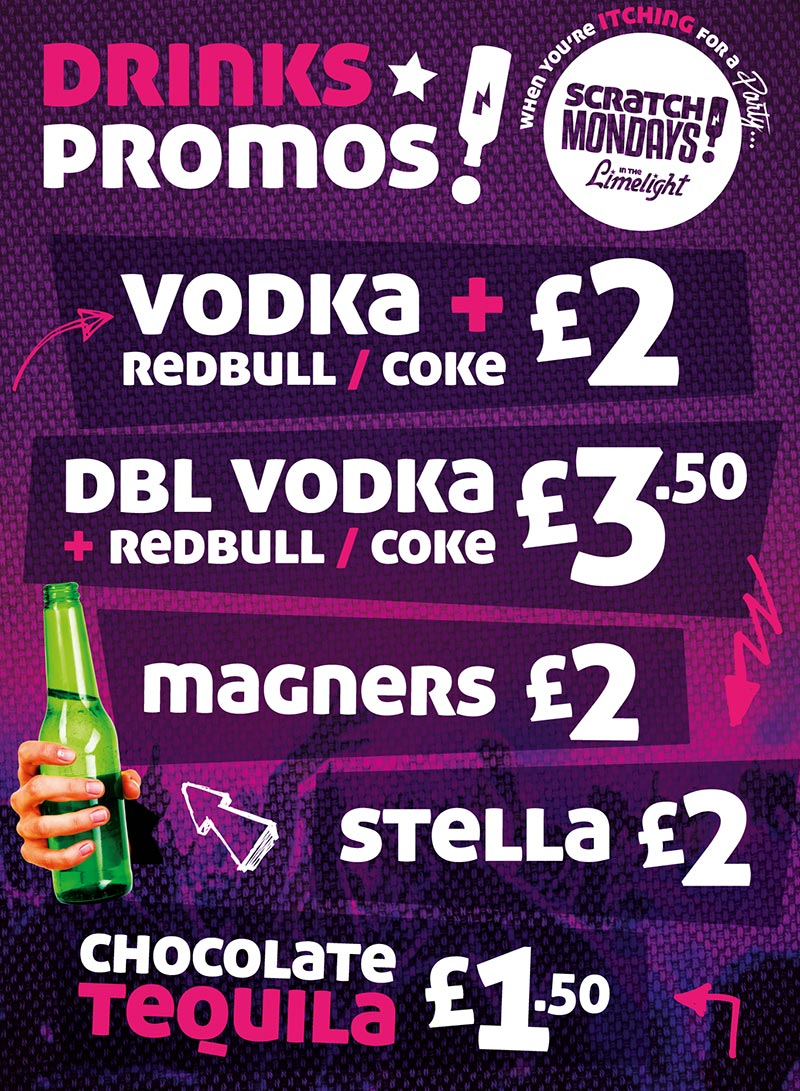 Scratch Mondays Drinks Promos