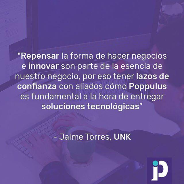 Los equipos multidisciplinarios generan un ambiente positivo para la innovación, ya que hay gran valor en la diversidad de habilidades al trabajar en conjunto. Creemos en que los conocimientos se comparten y en que no es malo pedir ayuda a especialistas. Formamos una alianza con UNK, liderada por Jaime Torres, expertos en Internet de las Cosas (IoT) . Esta alianza nos ayuda a estar al día con las últimas tendencias y a implementarlas de mejor forma en nuestros proyectos. #innovacion #poppulus #unklatam #iot #mulidisciplinario #equipo #creatividad #alianzas #internetdelascosas
