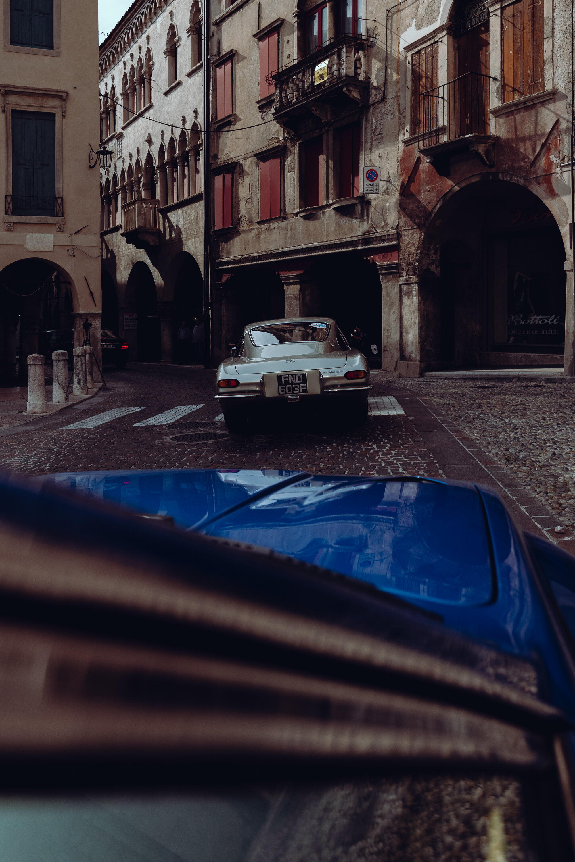 Jarama behind the first Lamborghini ever built, the 350 GT.