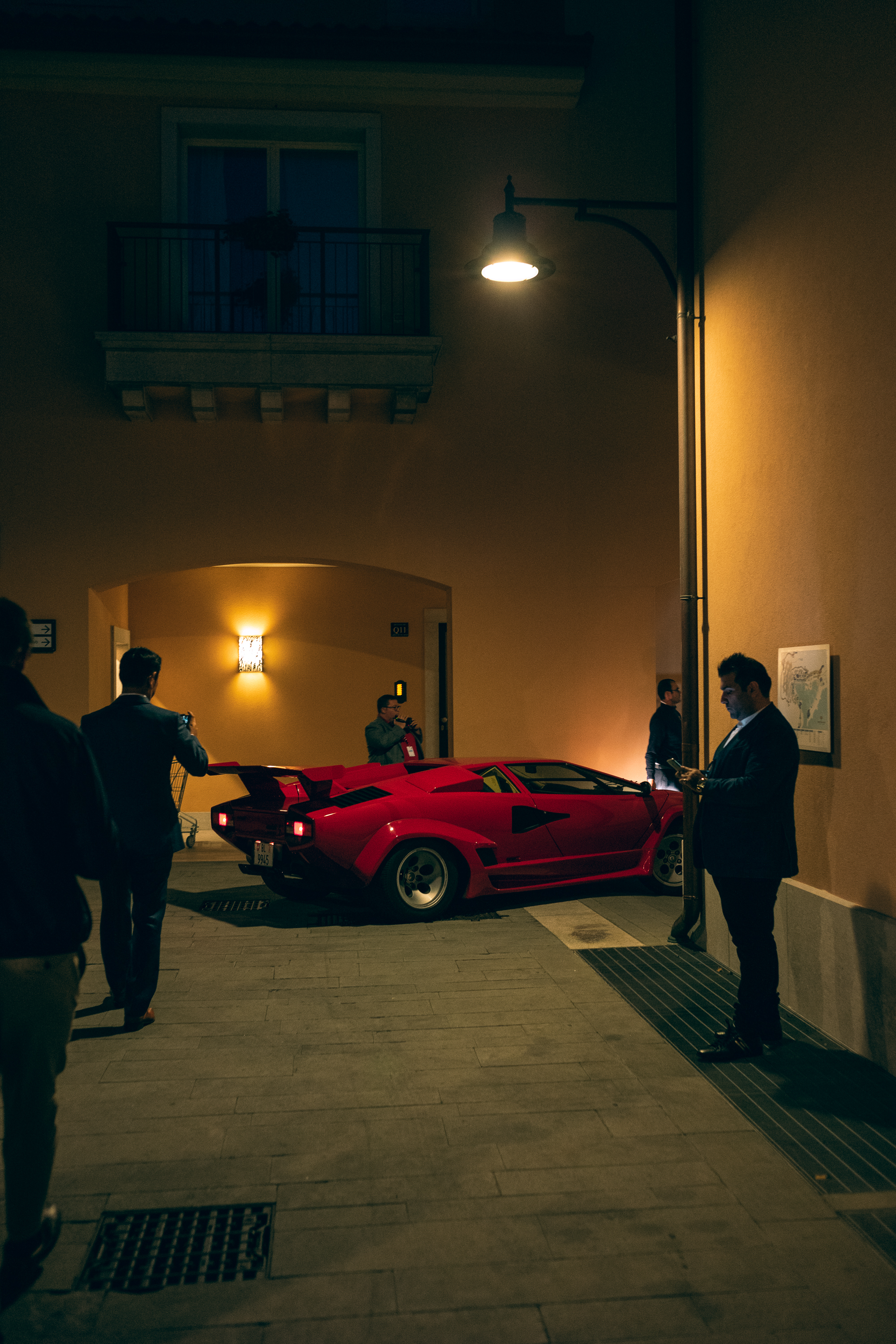 Countach by night.