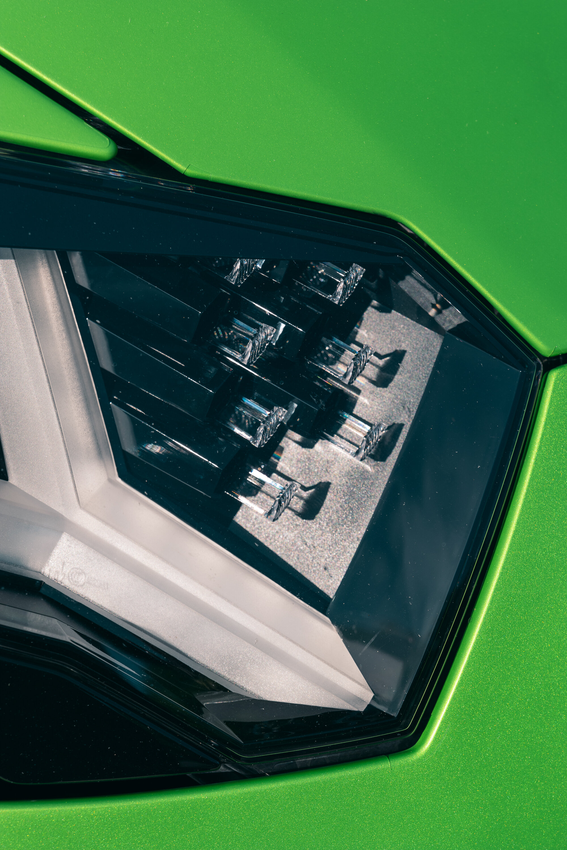 Aventador SVJ headlight detail.