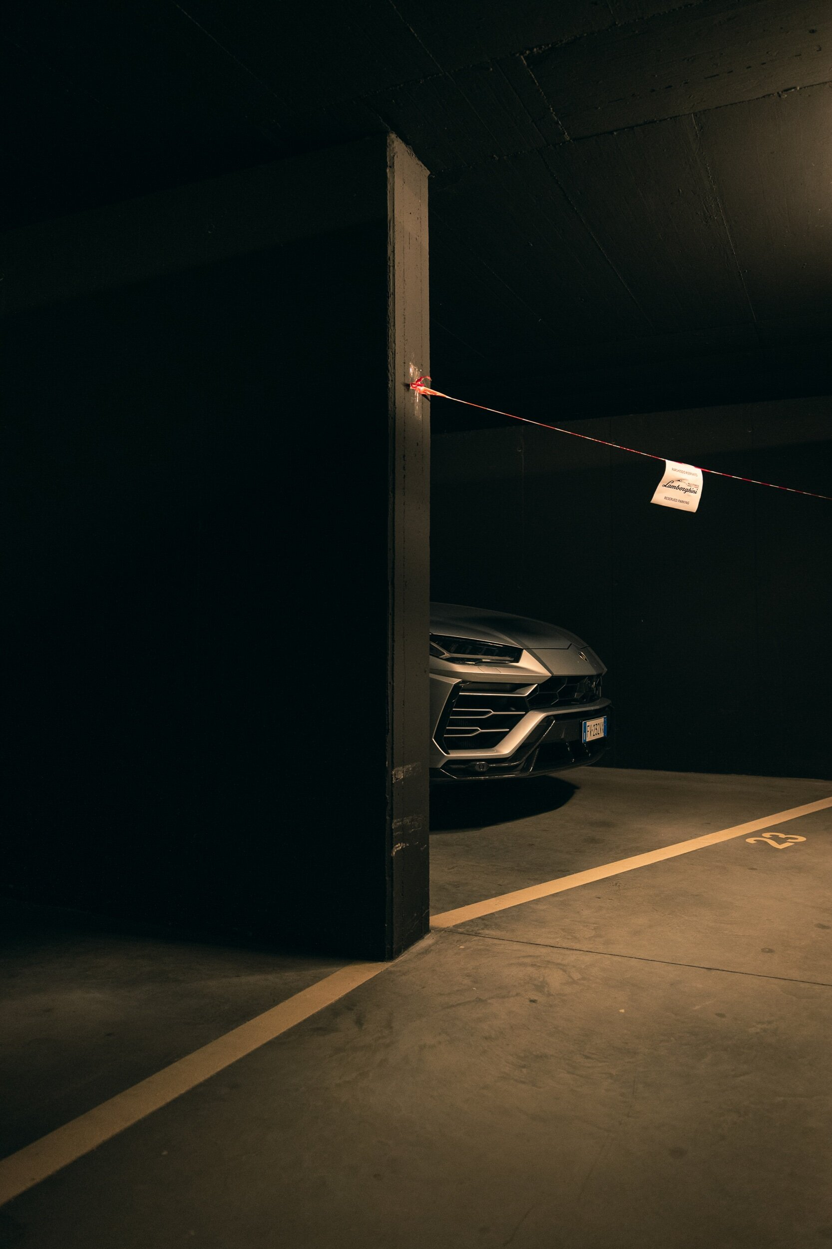 The Bull resting after a hard day of work, Lamborghini Urus..
