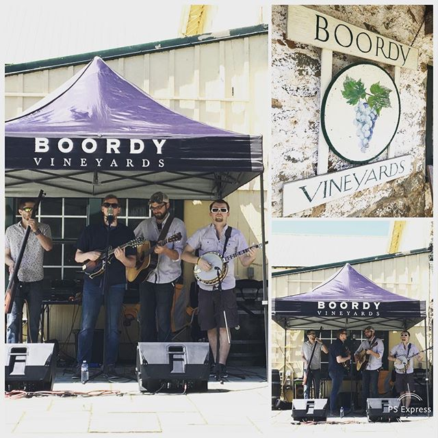 What an awesome day! Thank you so much @boordyvineyards . We can't wait to come back! - - - #bluegrass #instruments #musicians #music #festival #bar #restaurant #guitar #mandolin #banjo #bass #brothers #weber #fairbuilt #pennsylvania #maryland #nashville #instagood #instastyle #boordy #vineyard #boordyvineyard #wine