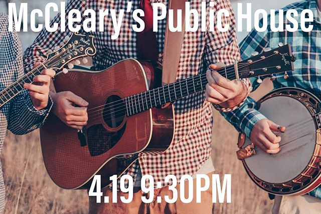 See you there!!@mcclearyspublichouse - - - - #bluegrass #instruments #musicians #music #festival #bar #restaurant #guitar #mandolin #banjo #bass #brothers #weber #fairbuilt #pennsylvania #maryland #nashville #instagood #instastyle #McClearys