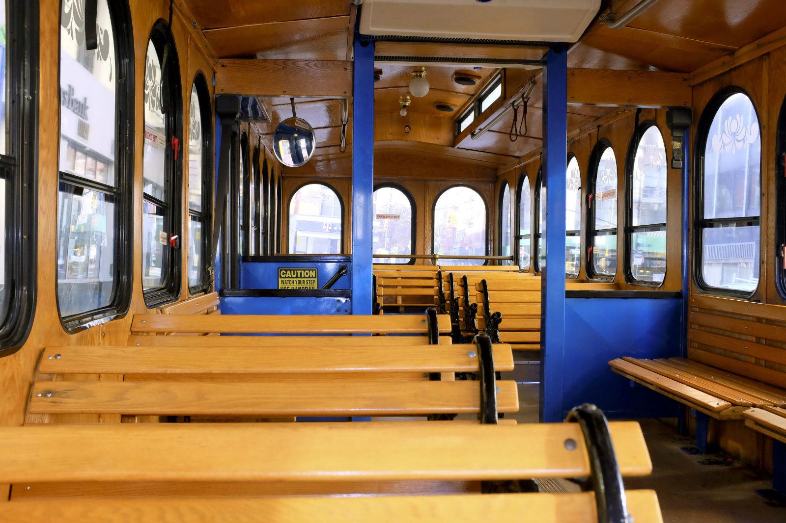 Interior View Dolly the NY Trolley
