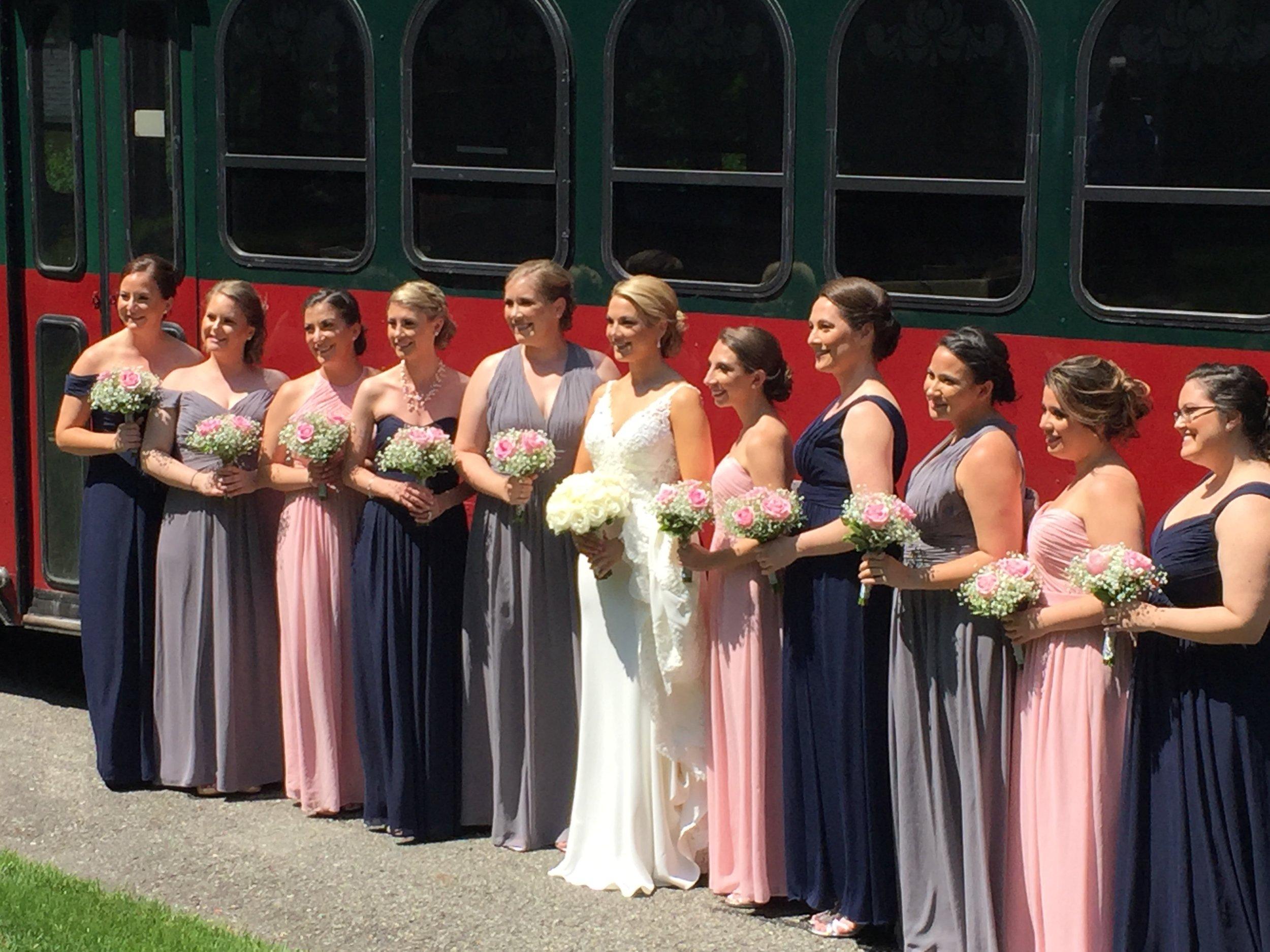 NYC Limo service with Wedding Photographer