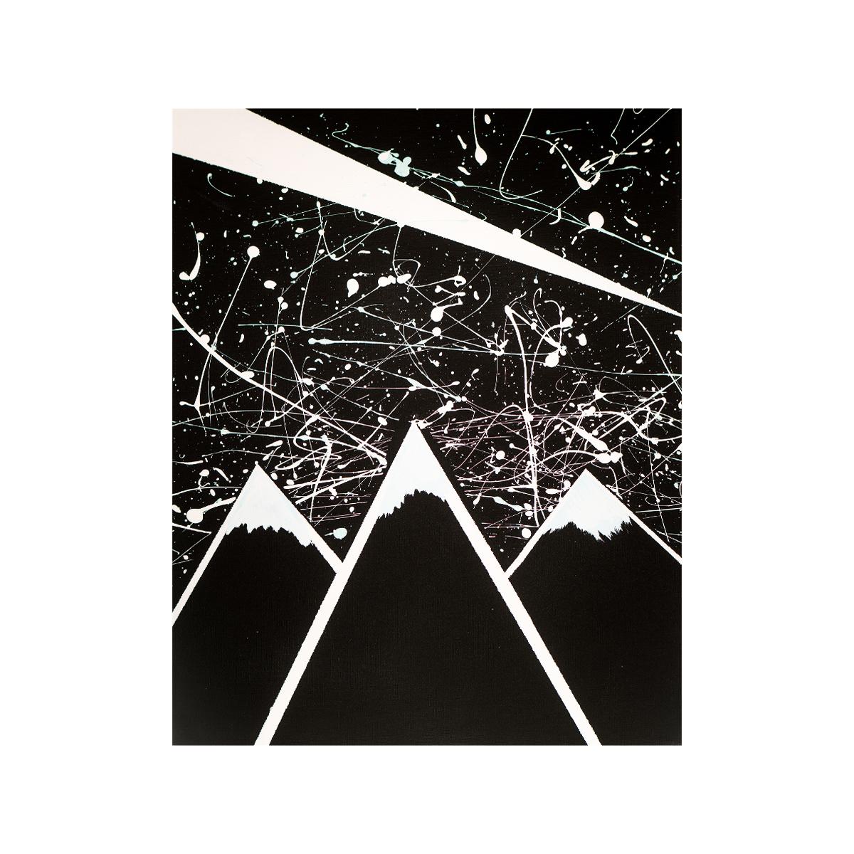 Stars Fly Over Spilt Milky Way  16x20 acrylic on canvas