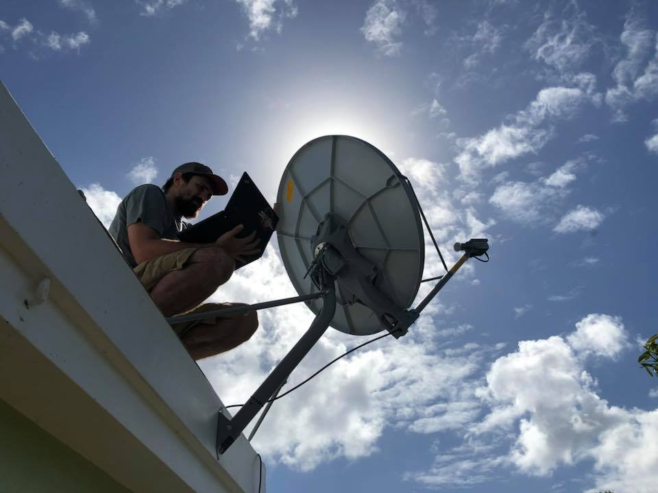Pirate I.T. sets up Satellite Internet