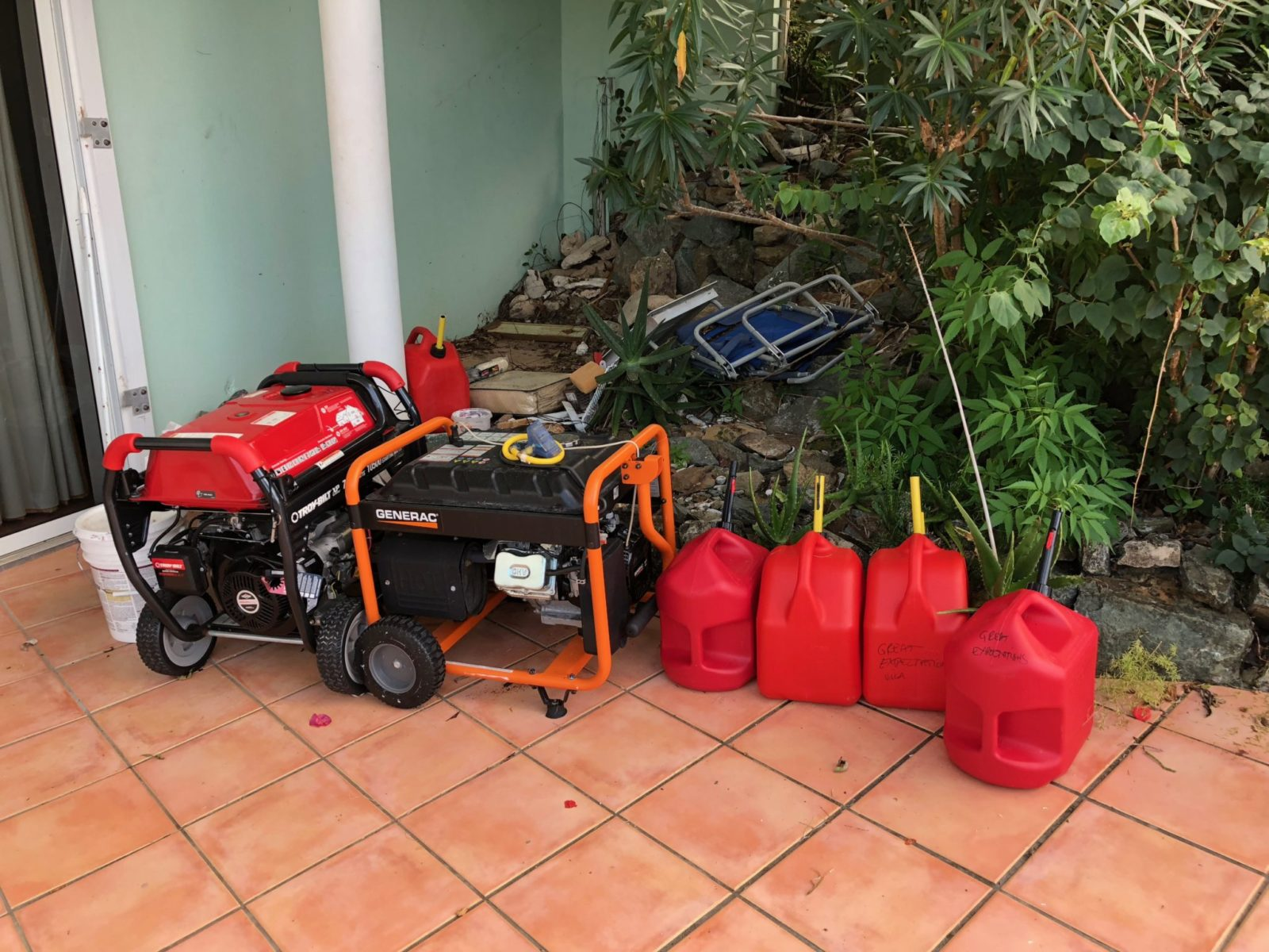 our st John villa portable generator after irma