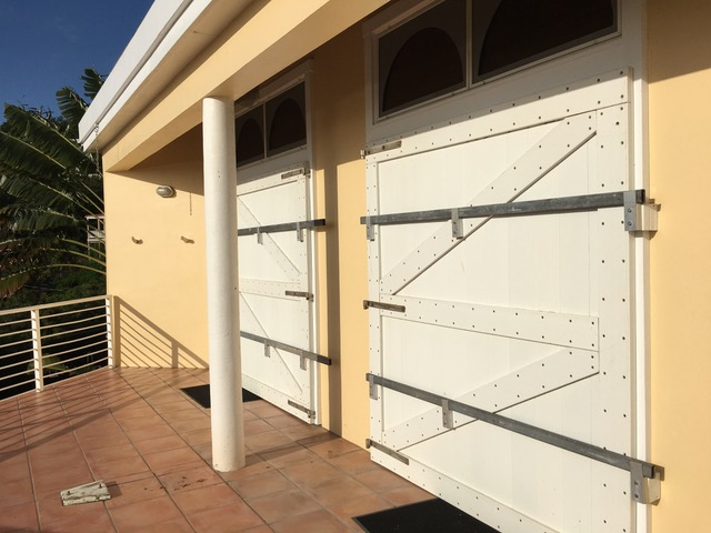 Great Expectations Hurricane Shutters bolted in just before Hurricane Irma, September 5, 2017