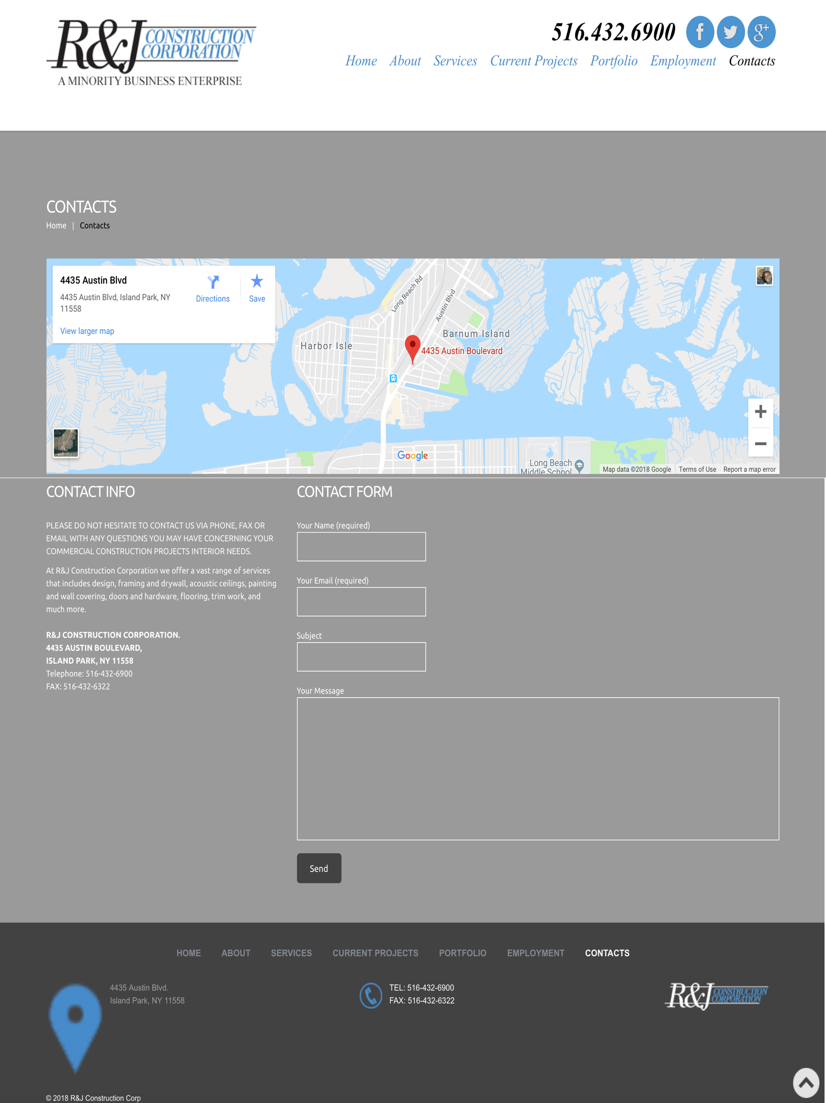 R J Construction Page Rob Rich Design Ux