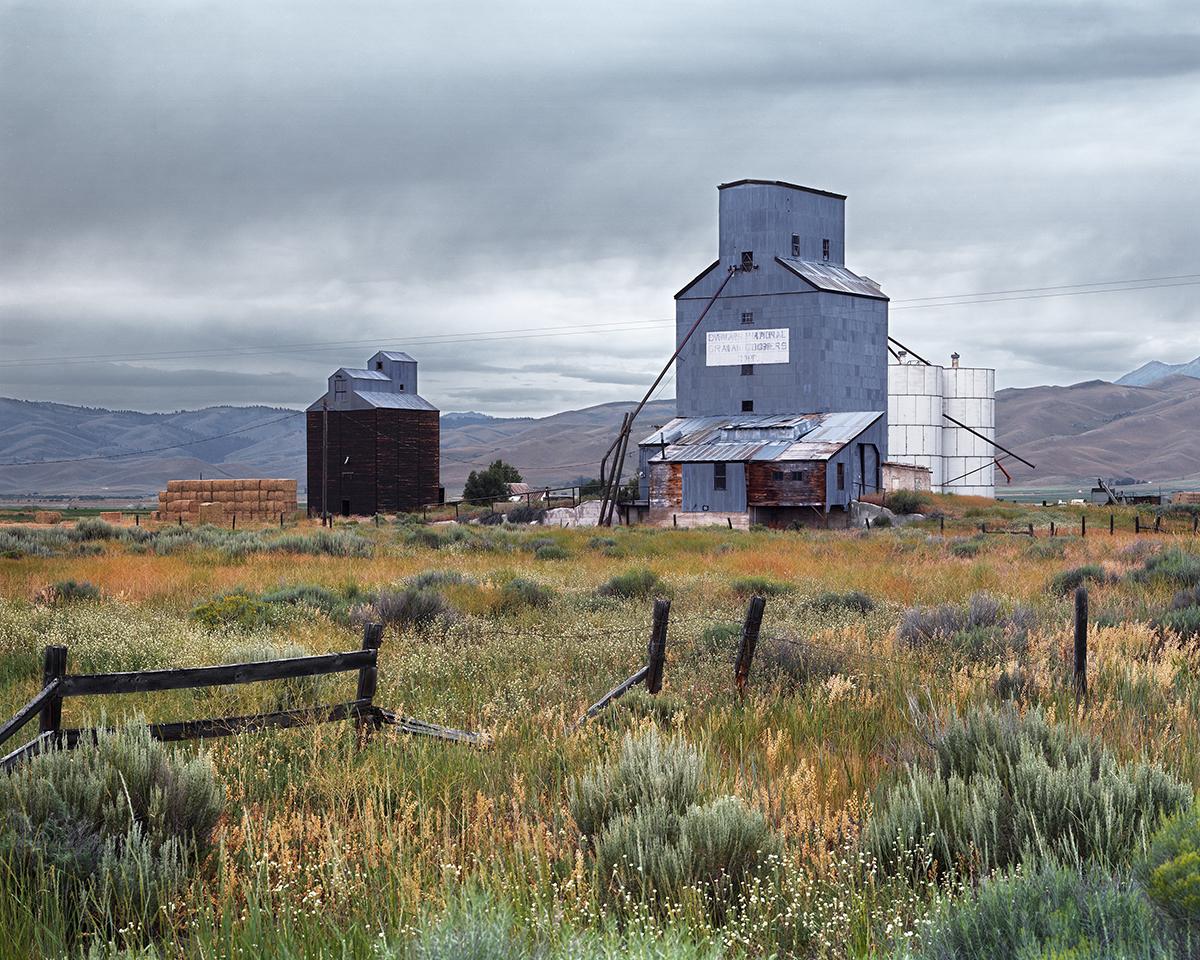 Grain Elevators at the Town of Corral, Camas County, Idaho, 2015