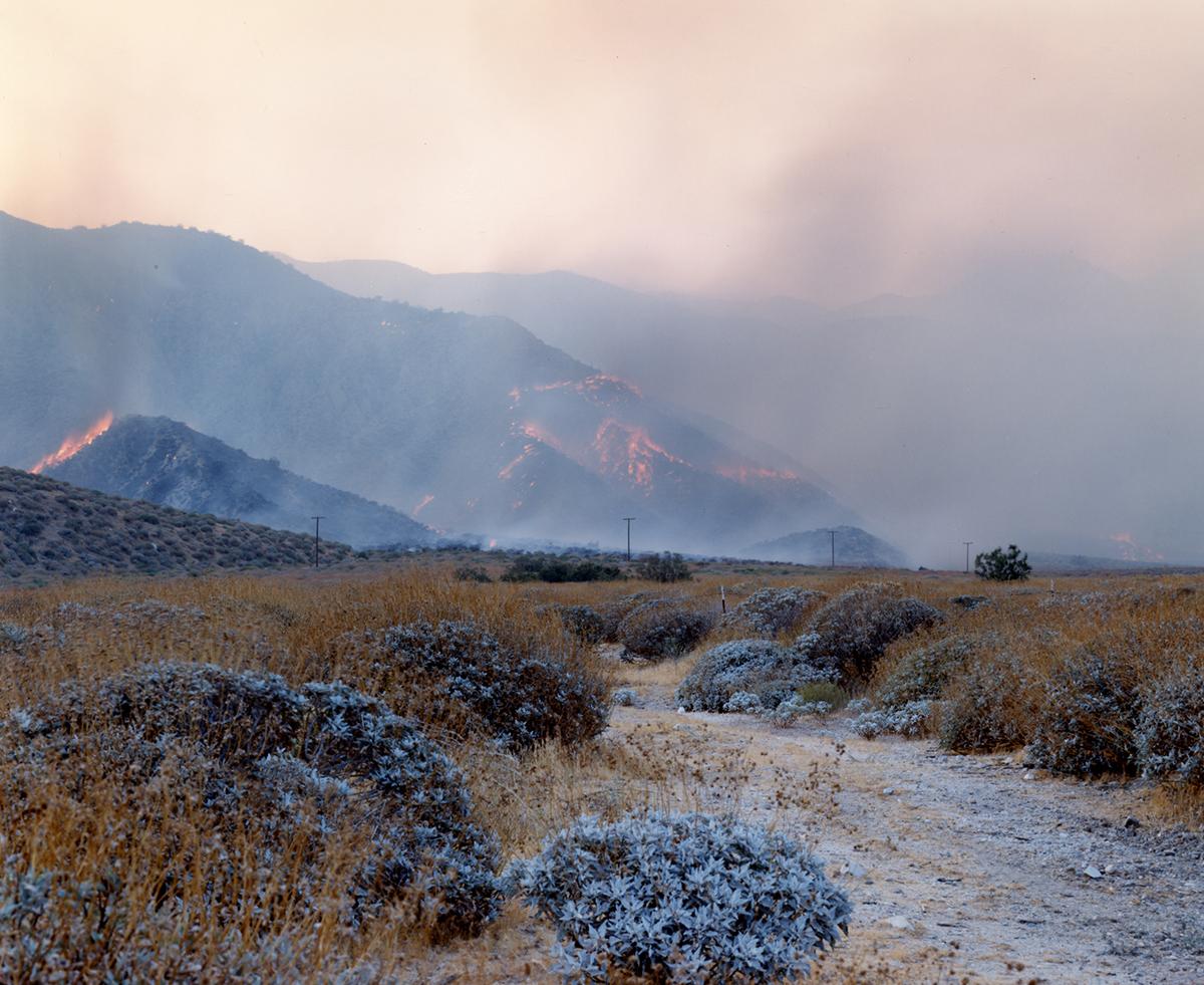 Accidental fire, San Bernardino Mountains, California, 1995