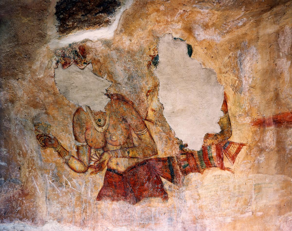 Fifth Century Fresco, Sigiriya, Sri Lanka, 1993
