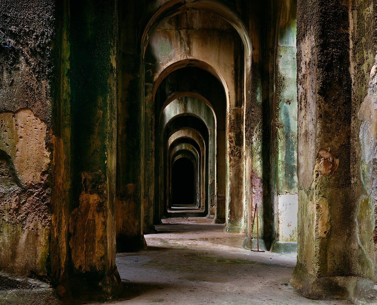 Piscina Mirabile, underground reservoir which supplied the Roman fleet at Misena, Bacoli, Italy, 1994