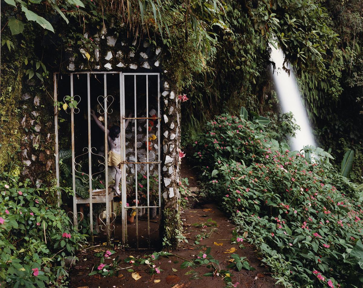 Shrine at La Paz waterfall, Vara Blanca, Costa Rica, 1992