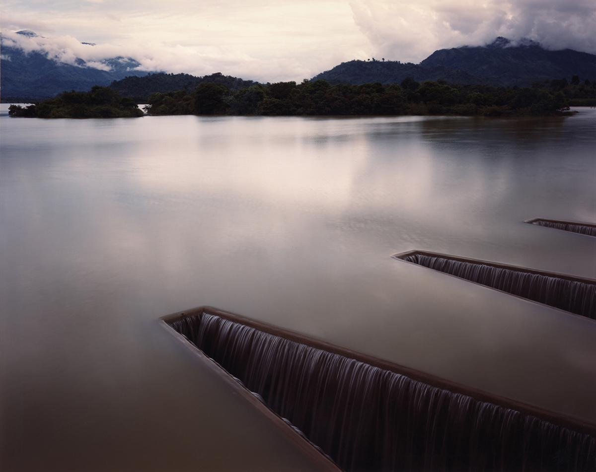 Sluices at a resevoir, part of a two-thousand-year-old irrigation system now updated, near Badulla, Sri Lanka, 1993
