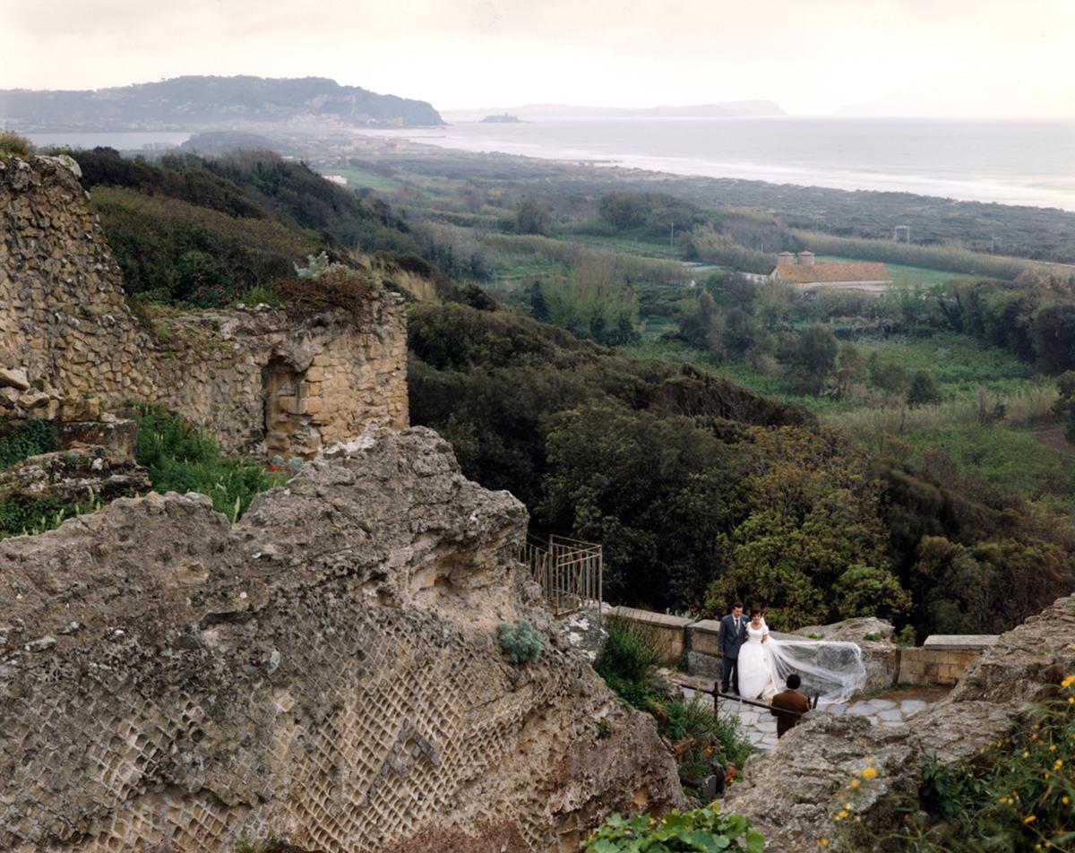 Wedding photograph near a Roman temple at Cumae,, Campi Flegrei (Fiery Fields), Italy, 1994