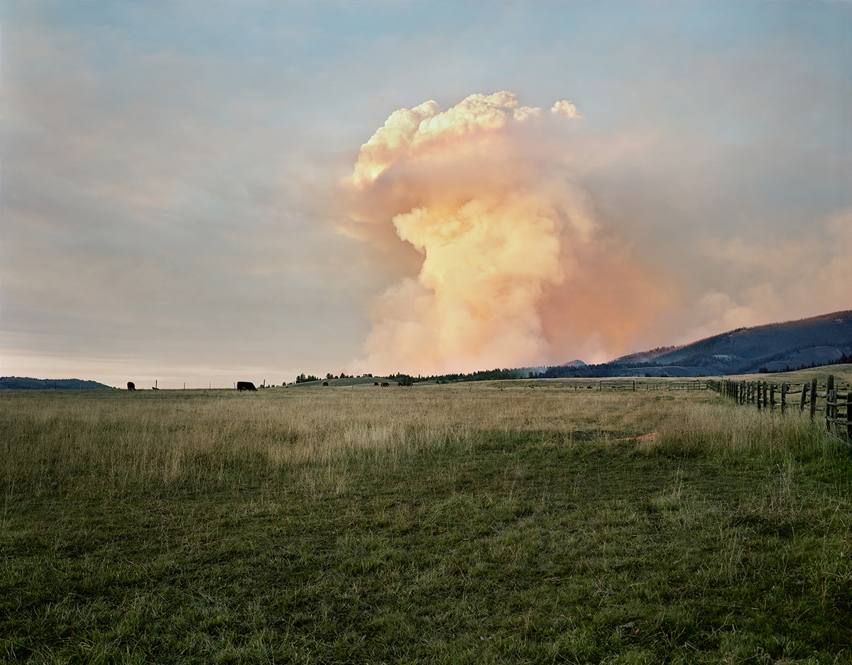 Smoke from a Wildfire Ignited by Sparks from a Burn Barrel, Champion Creek, Custer County, Idaho, 2005.jpg