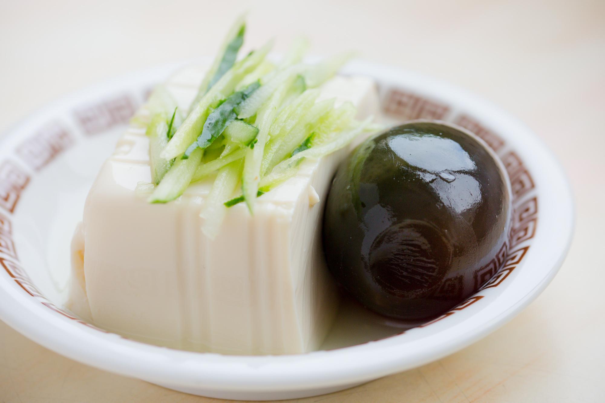 Tofu with Pidan (preserved egg)