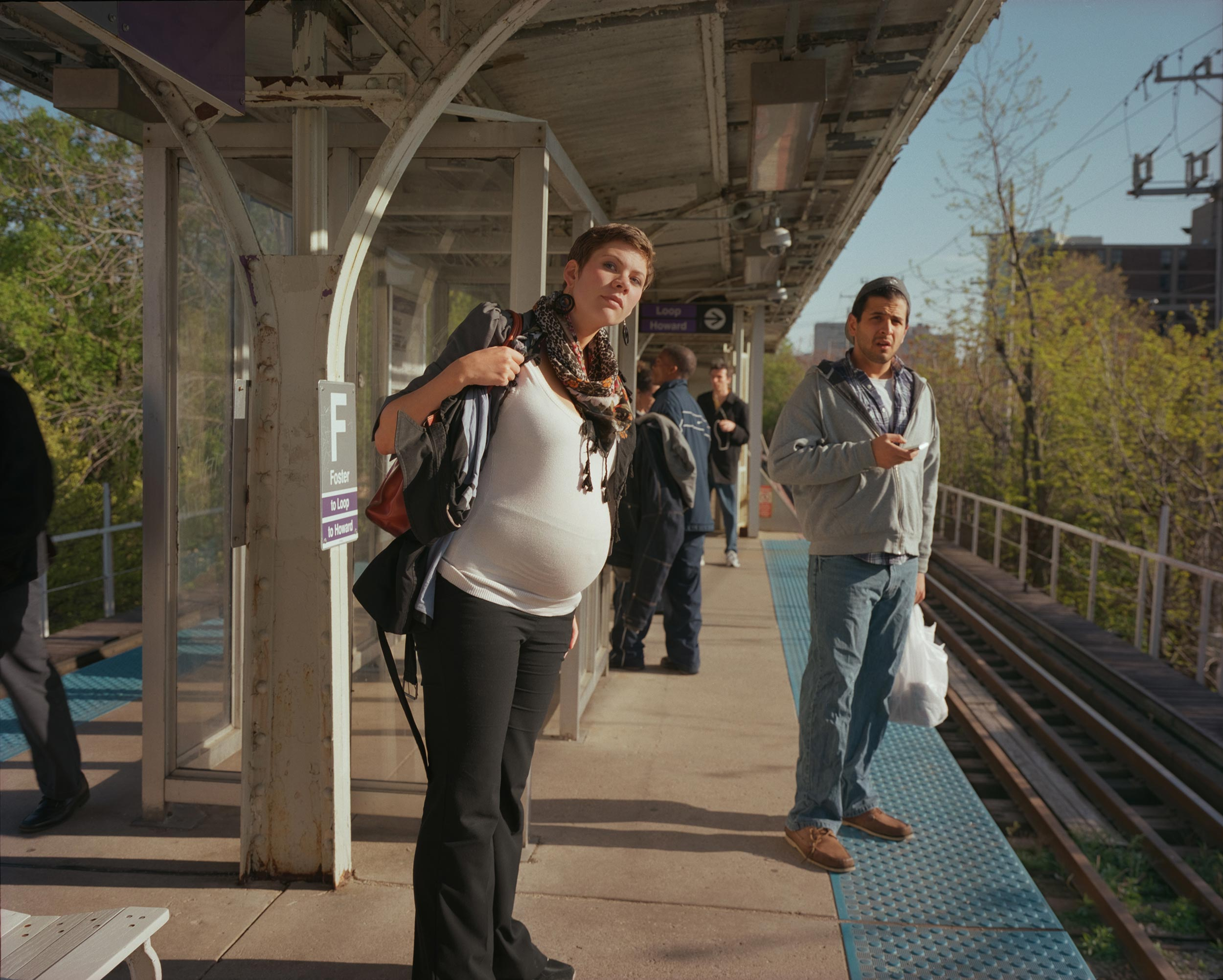 Eva, social worker, on the Purple Line - 2012, © Melissa Ann Pinney