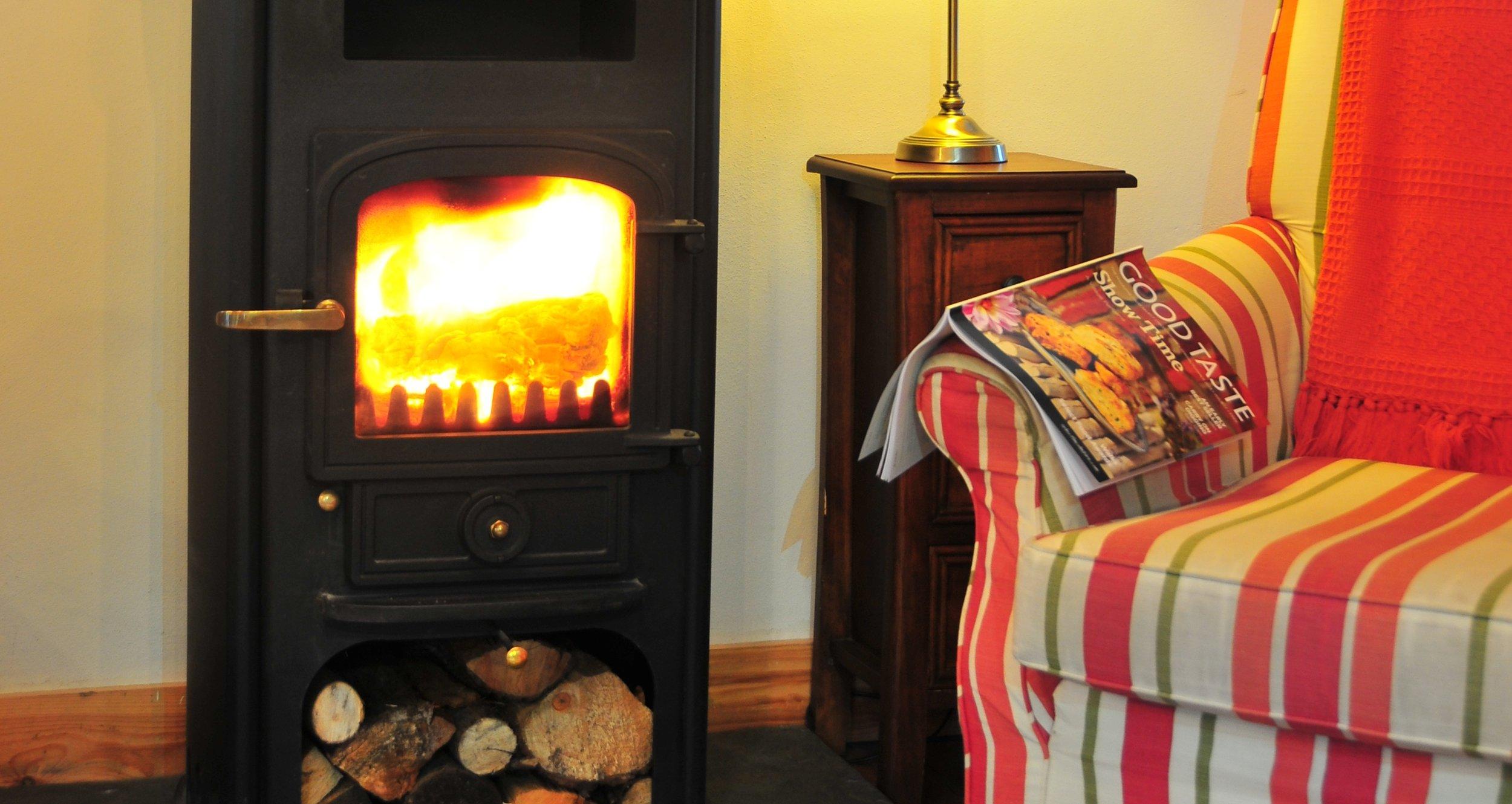 Hayloft Living Room - Woodburning Stove 2.JPG