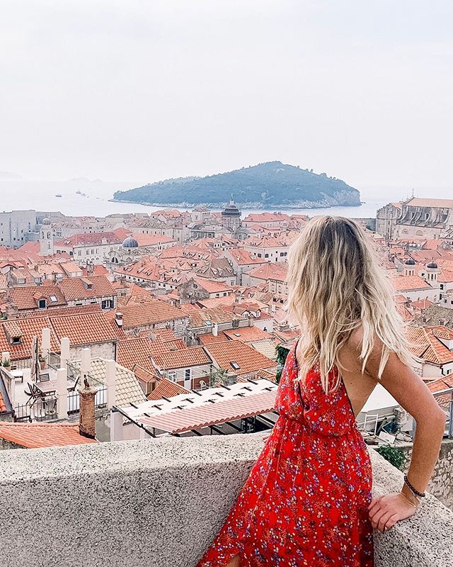 Just one of many epic views I've seen during the first 3 months of living this #travelingentrepreneur life ✨ :: From the views on top of these city walls of Dubrovnik to views of the rooftop of the Milan Duomo, DaVinci's Last Supper painting, the colorful hillside homes along the Amalfi Coast, jumpers from Stari Grad Bridge in Mostar, The Treasury landmark in Petra, The Vatican, The Alp Mountains....and on and on and on. :: I can't imagine how seeing all of these views in just 3 months could have been possible without having the freedom to work remote.  This #workremote life is more than just designing your own schedule or workspace, it's designing the life you want to live ❤️ So what kind of life do you want to design for yourself? :: #workandtravel #wanderlust #laptoplifestyle #solopreneur #digitalnomad #remotelife #likeaboss #workhardplayharder