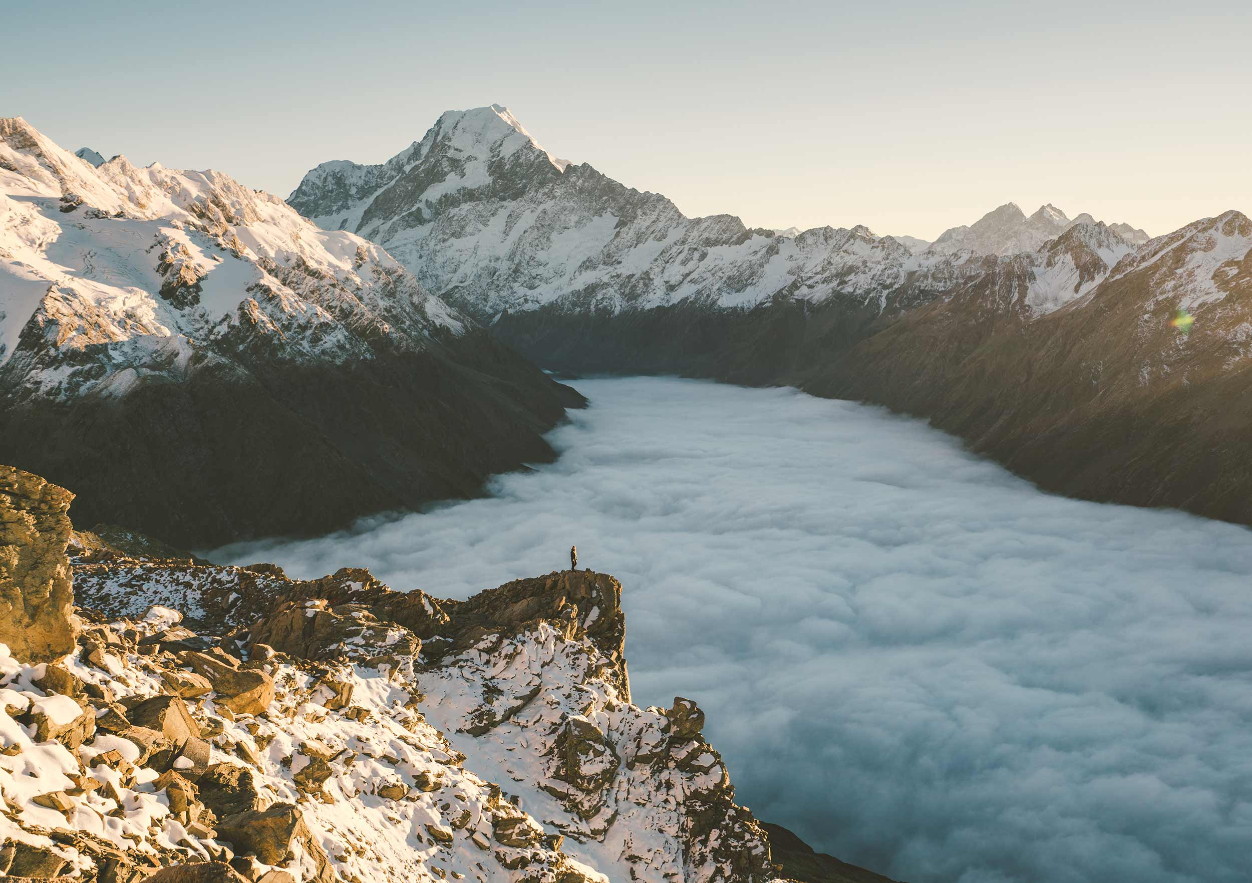 No Crowds Above the Clouds (Mount Cook National Park, New Zealand)