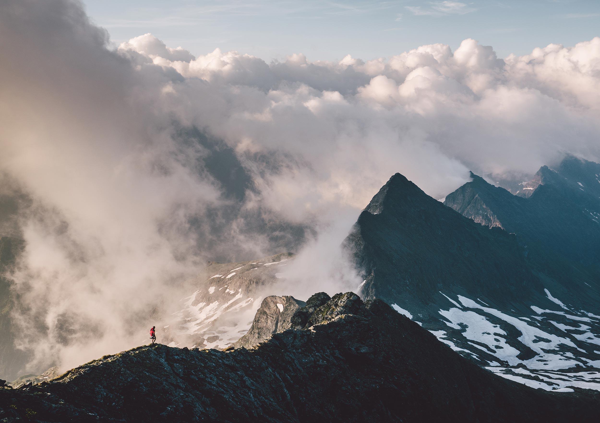 Ridgelines in Austria (Hochwildstelle, Austria)
