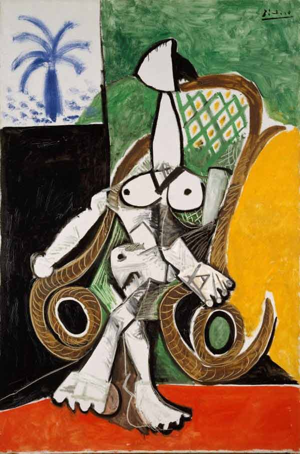 Picasso#'Nude in a rocking chair'