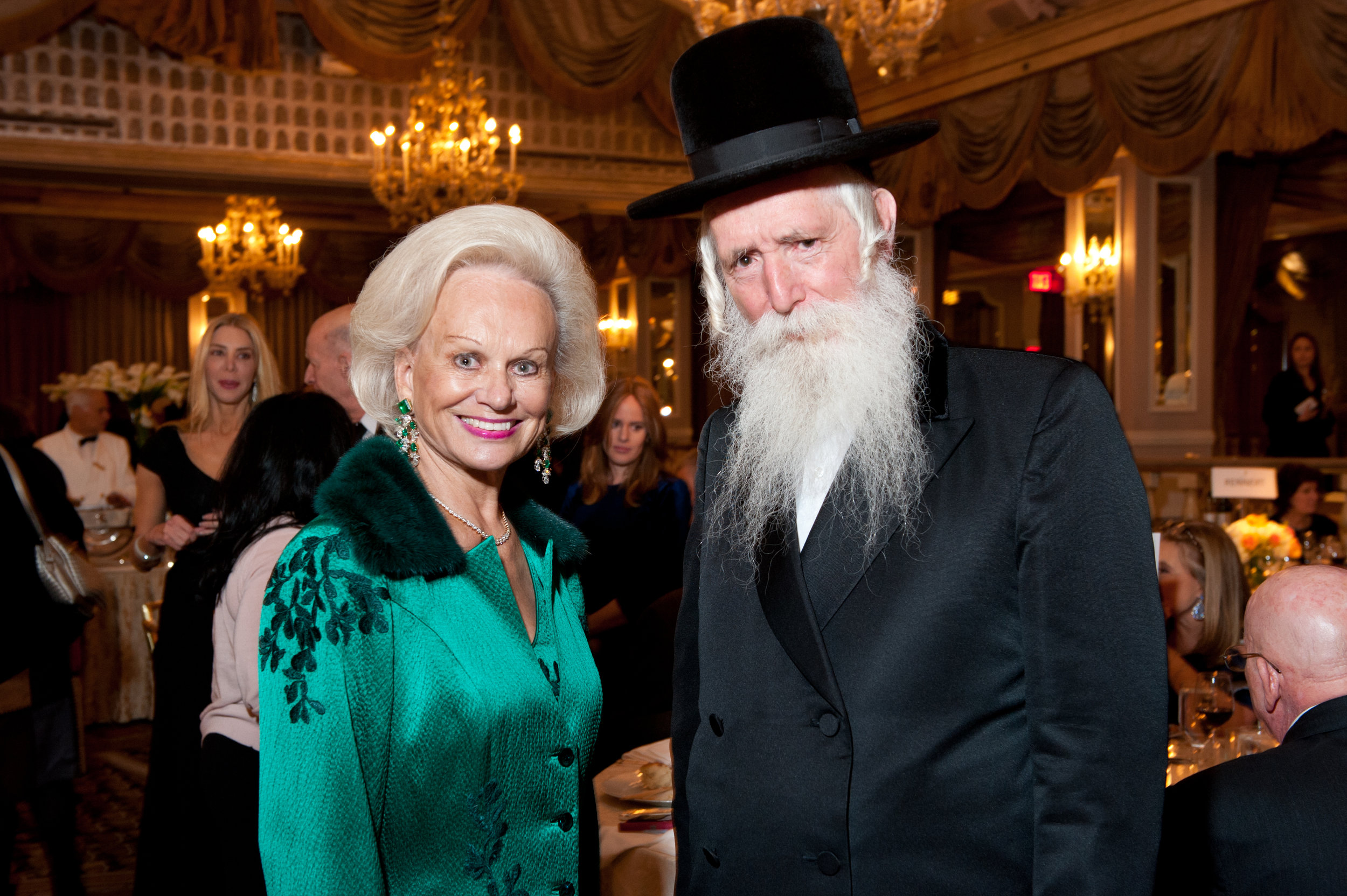 President Ingeborg Rennert and Rabbi Grossman.jpg