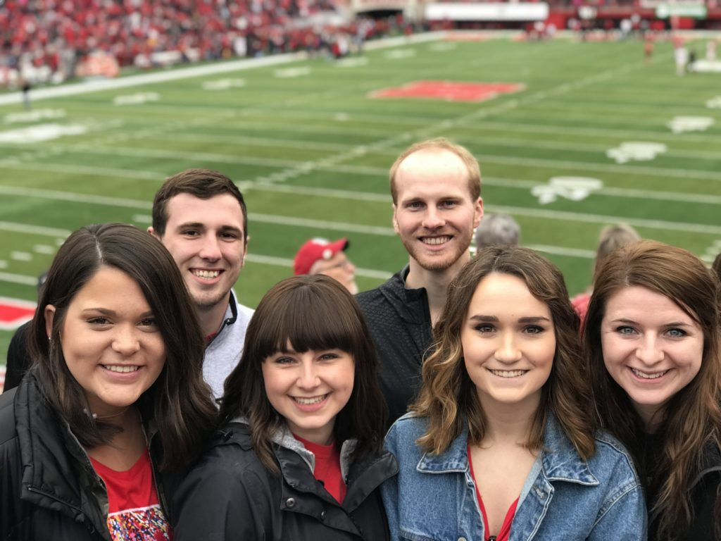 The Spreetail internship experience begins before interns' first day on the job. In April 2018, summer interns attended the Nebraska Football Spring Game with the rest of the Spreetail team to jump-start the connections they would make throughout their internship.