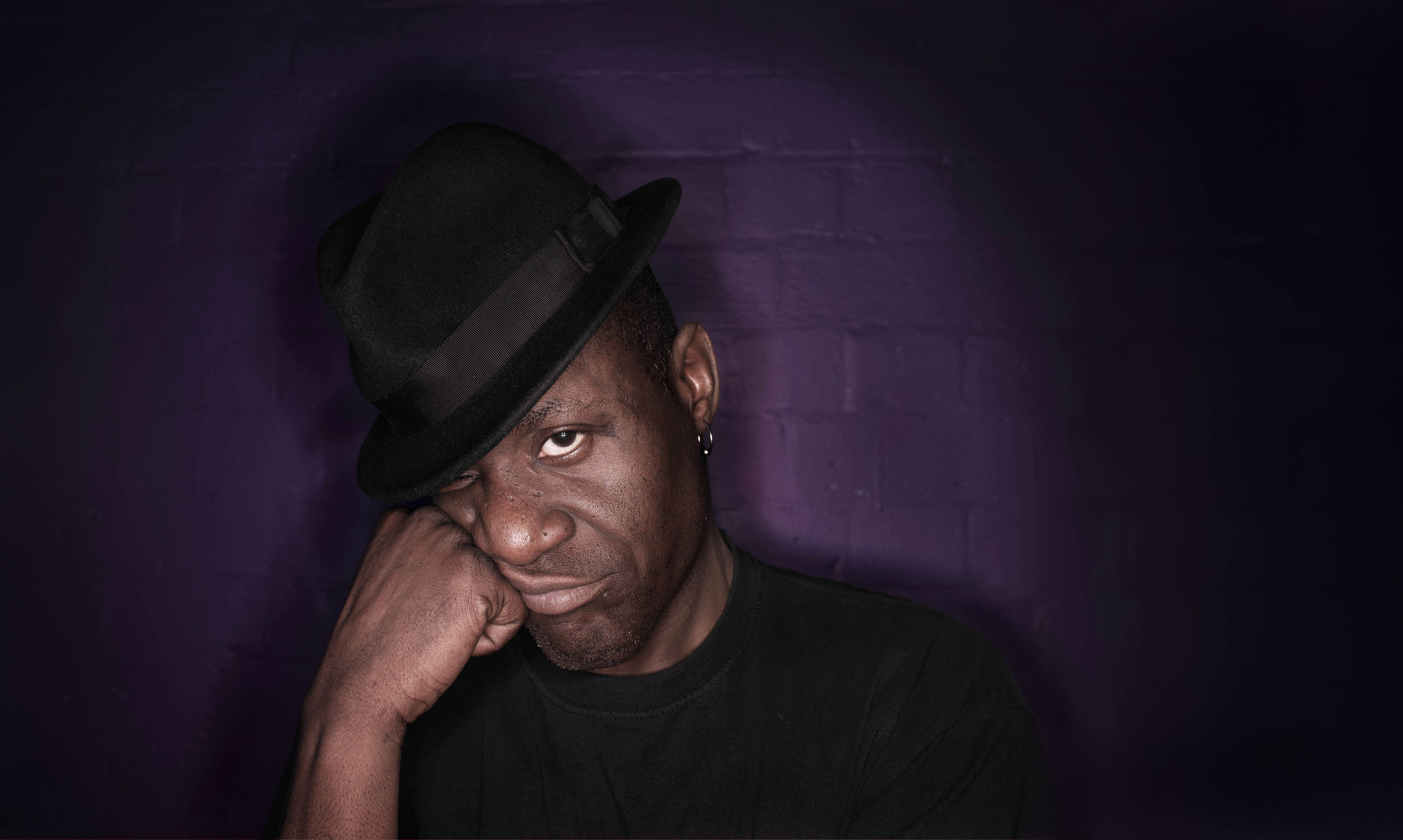 Portrait of  Neville Staple ,singer for the two-tone ska band The Specials.
