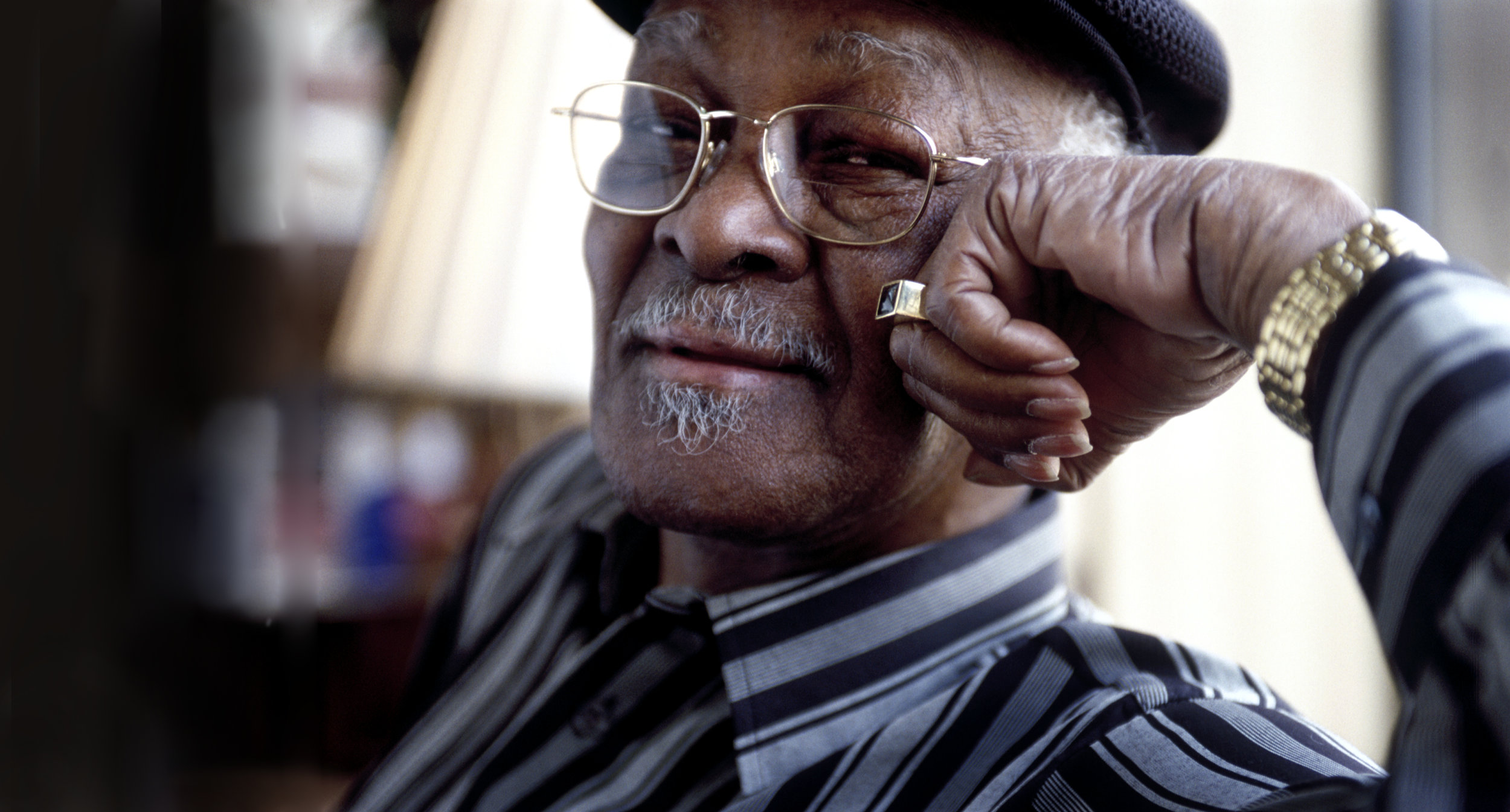 Editorial portrait of the late singer  Ibrahim Ferrer  who was part of world music group Buena Vista Social Club.