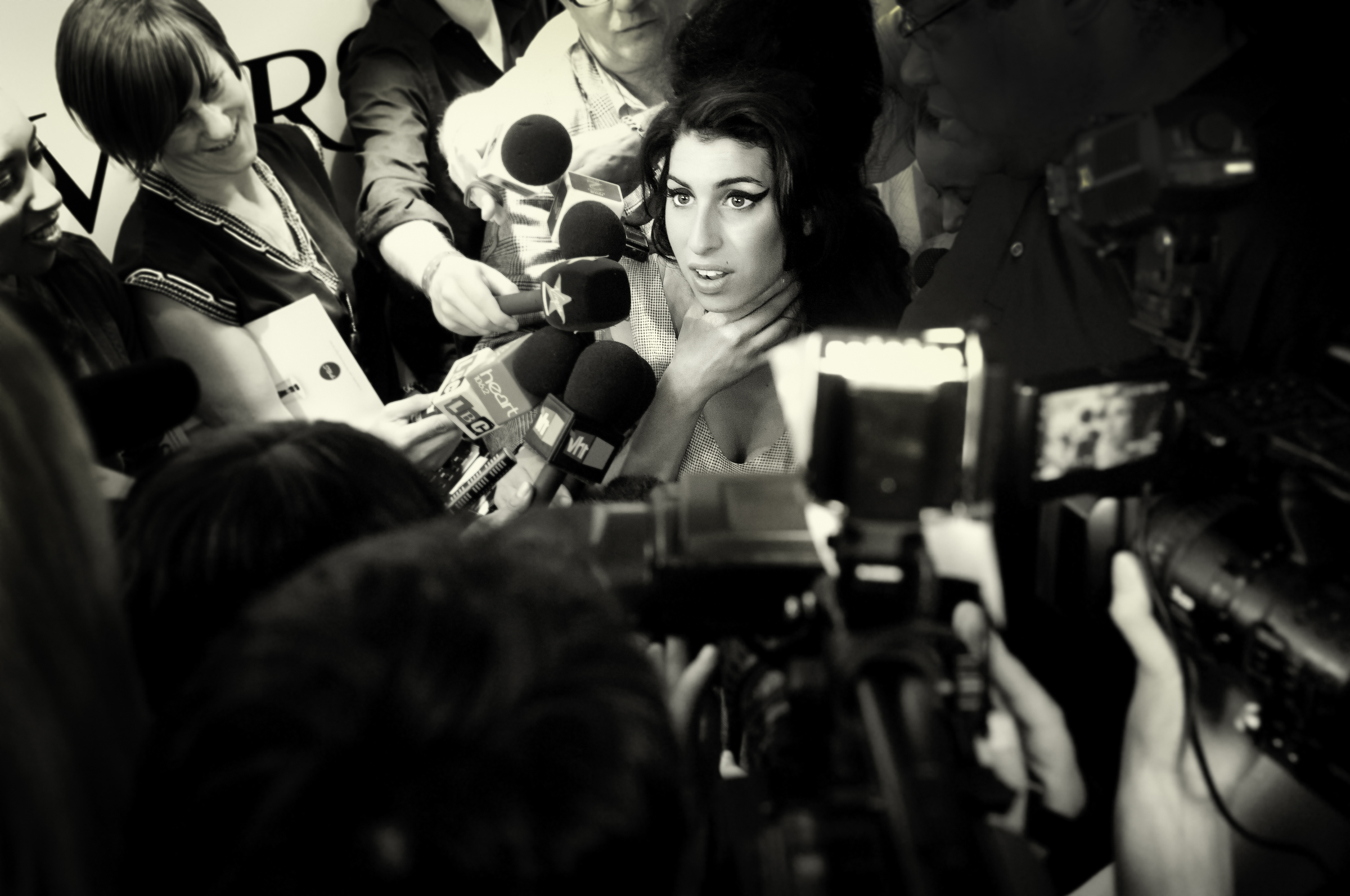 Amy Winehouse  captured whilst documenting the Ivor Novello Awards for PRS (Performing Rights Society).