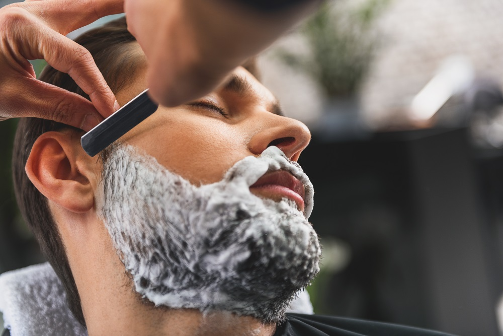 Straight razor Shave $35 - A wet shave prepped with a hot towel and essential oils.