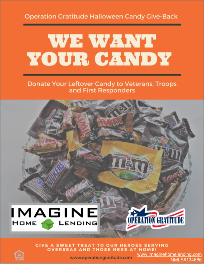 Imagine Home Lending is a proud partner of Operation Gratitude. Being sweet to our military is so important to us.