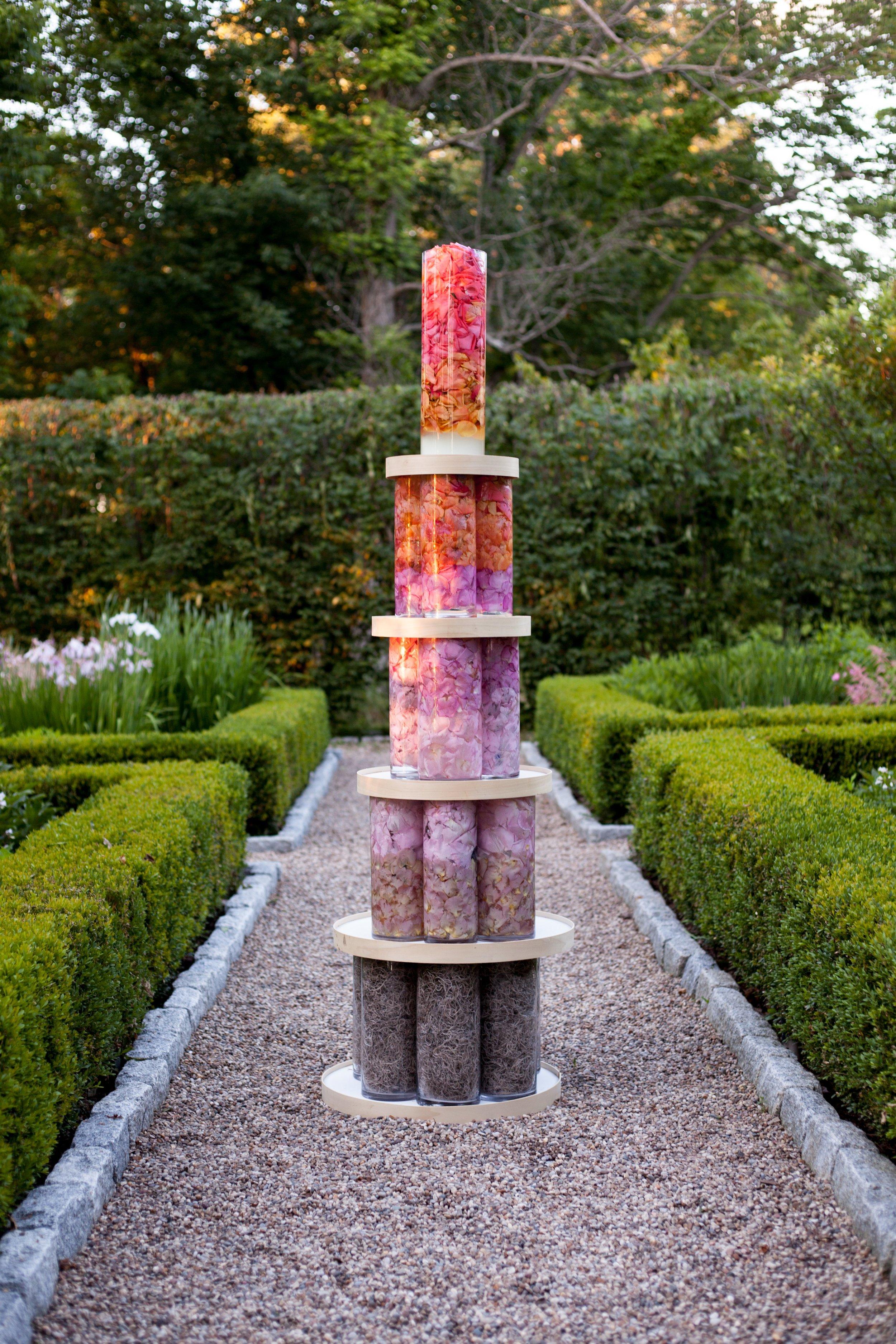 """Petal Pillar, Secret Garden"" by Stephanie Lindsay; Photography: Tatiana Rathke."